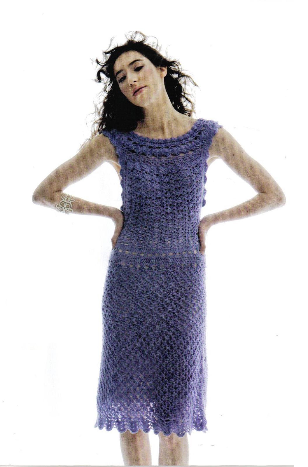 Ivelise Feito à Mão: Vestido Em Crochê