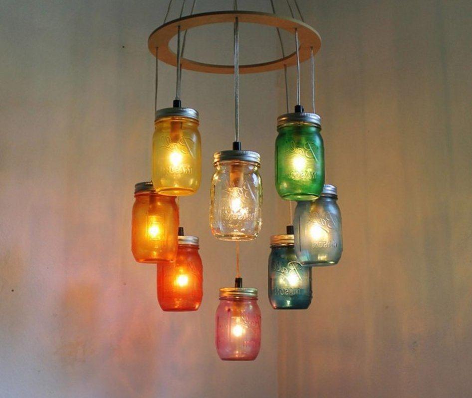 lmparas elctricas con frascos de vidrio reciclados
