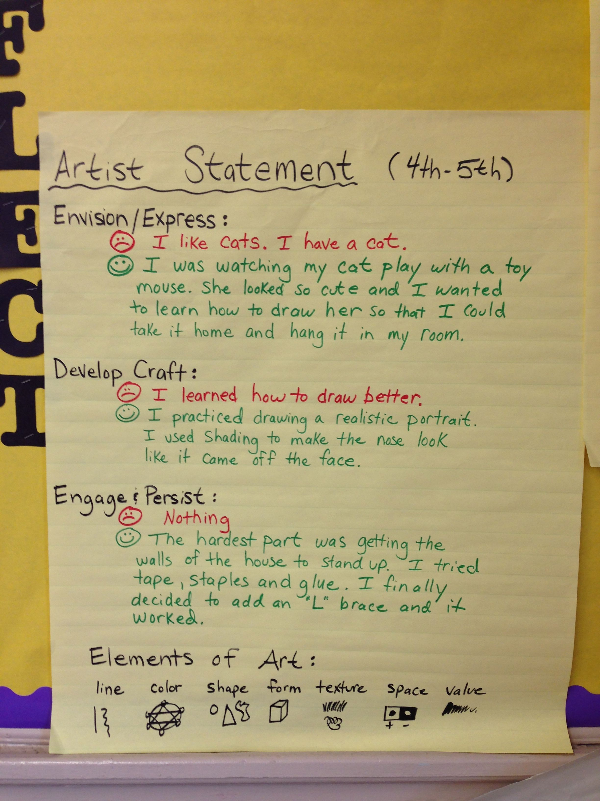 Artist Statement Choice-based Art Room 2012-13