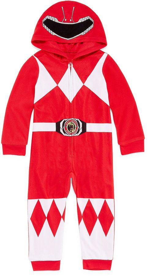 5c23c3d58821 Power Rangers Boys Sleepwear Long Sleeve Footed Pajamas-Toddler Boys ...