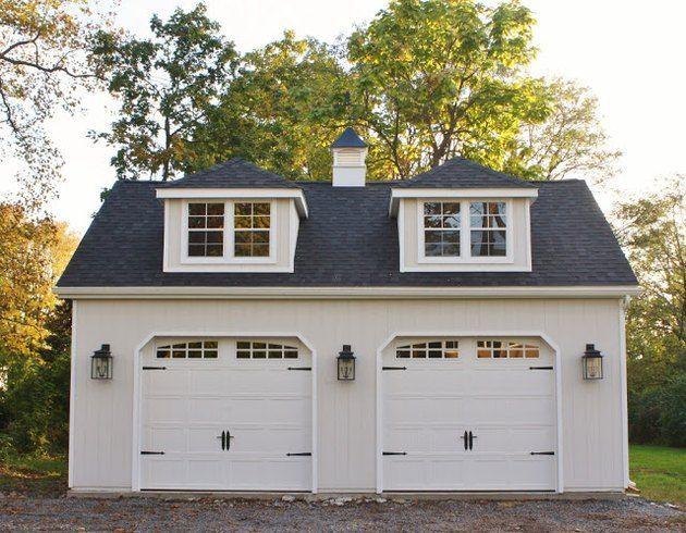 Detached Garage Ideas with 2-door detached garage with farmhouse exterior