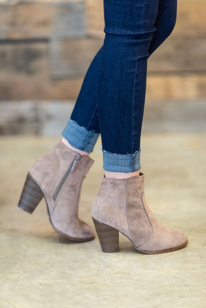 Out To Mingle Booties, Taupe #booties