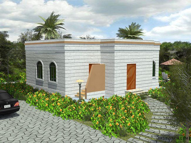 مخطط بيت صغير مساحة البناء 96 متر مربع Arab Arch Hotel Floor Plan Hotel Floor Outdoor Decor