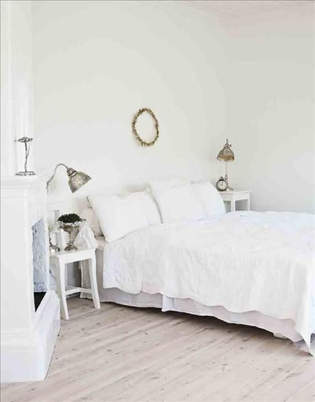 The couple's bedroom you sleep well next to the stately stove.  A simple chair may act nightstand ...