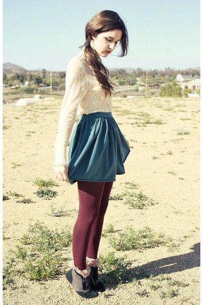 b8b85ea1b45cb aww so cute. maroon tights, lace socks.   { f a s h i o n }   Lace ...