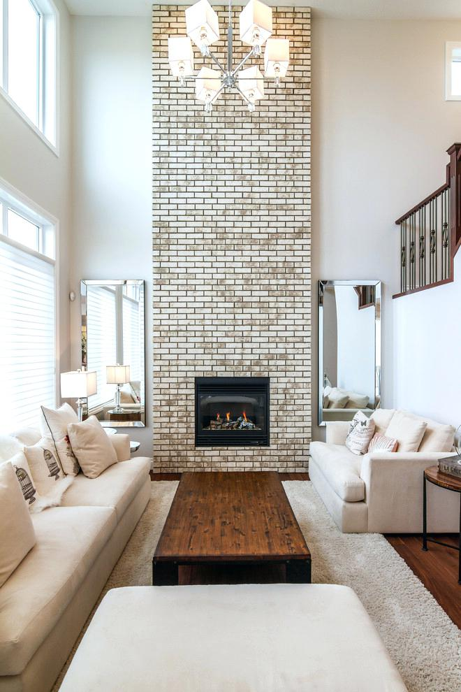 Comfortable Floor To Ceiling Brick Fireplace Makeover Image Credit Floor To Ceiling Brick Fi Fireplace Remodel Brick Fireplace Remodel Brick Fireplace Makeover
