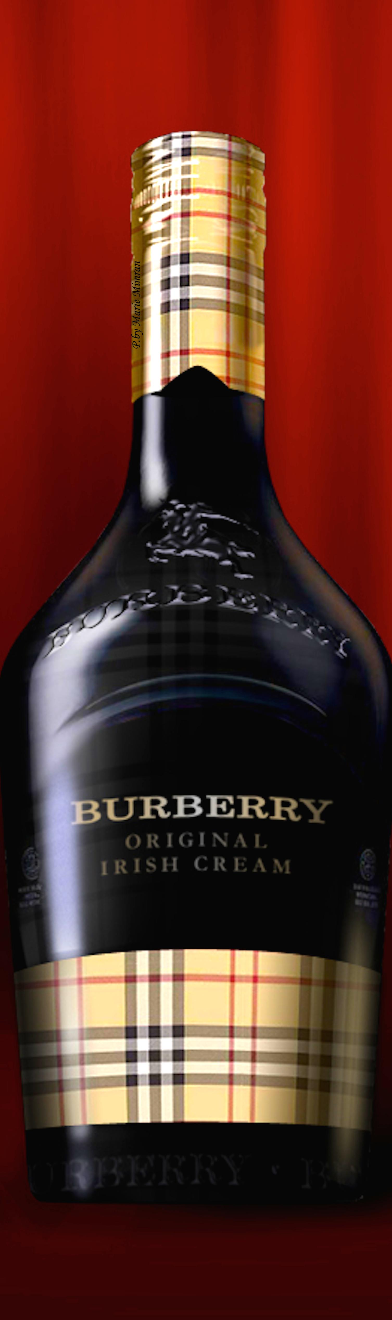 Burberry Original Irish Cream Pd Irish Cream Wine Bottle Glasses Wine Bottle
