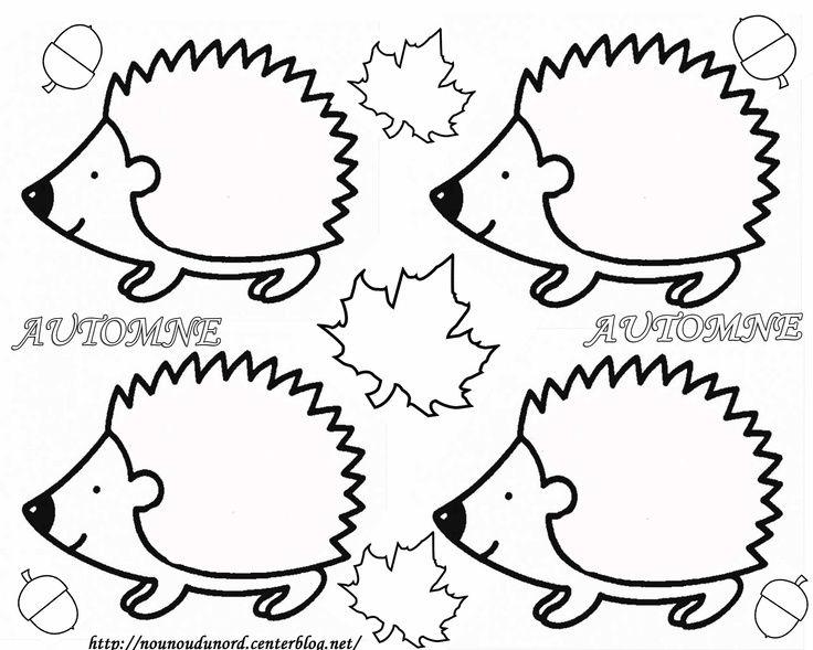 Quatang Gallery- Leuk Om Een Egeltje Mee Te Knutselen Kan Bijvoorbeeld Met Herfstbladeren Of Met Propjes Crepepapier Kleurplaten Herfst Bomen Herfst Knutselen