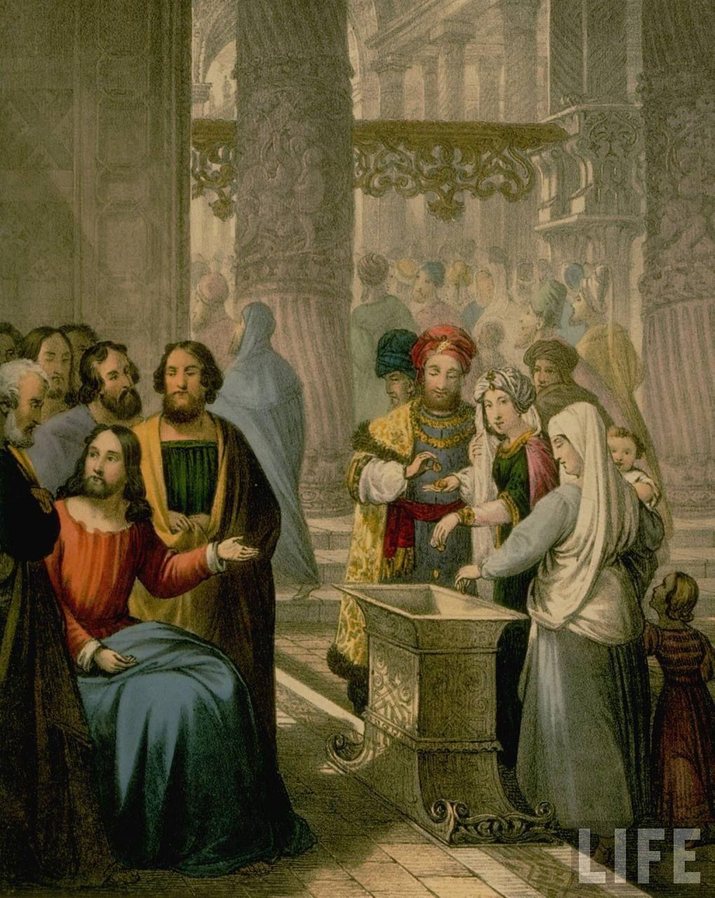 Google chrome themes jesus christ - Jesus Christ And The Widows Mites