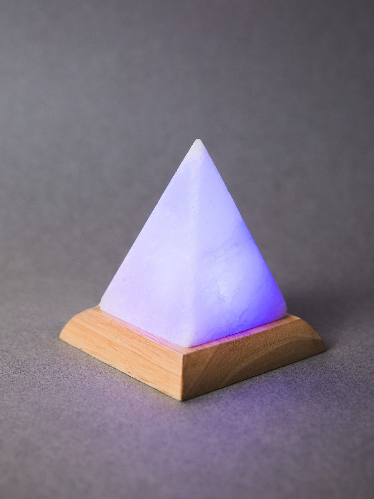 Mini Usb Powered Himalayan Salt Stone Lamp Pyramid White With