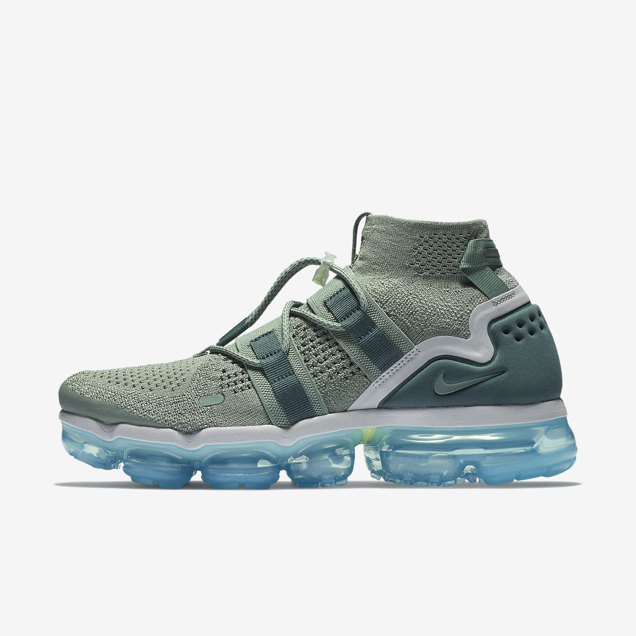 pretty nice c5ae3 b4ed7 Nike Air VaporMax Flyknit Utility Running Shoe Clay Green Barely Grey Neo  Turquoise Faded Spruce Style  AH6834-300
