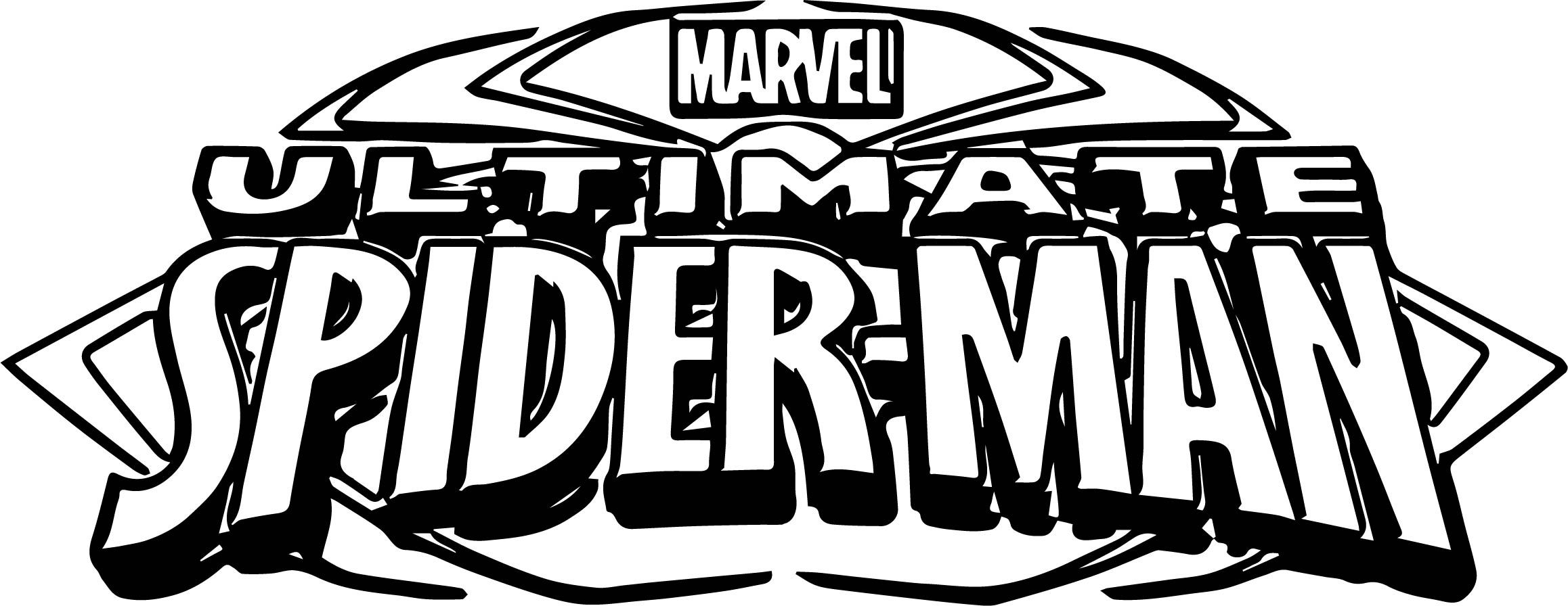 Nice Ultimate Spider Man Logo Coloring Page Ultimate Spiderman Man Logo Coloring Pages