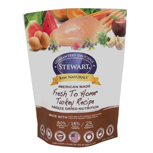 Raw Naturals By Stewart Freeze Dried Dog Food In Resealable Pouch Turkey 12 Ounce Http Www T Freeze Drying Food Dog Food Recipes Healthy Dog Food Recipes