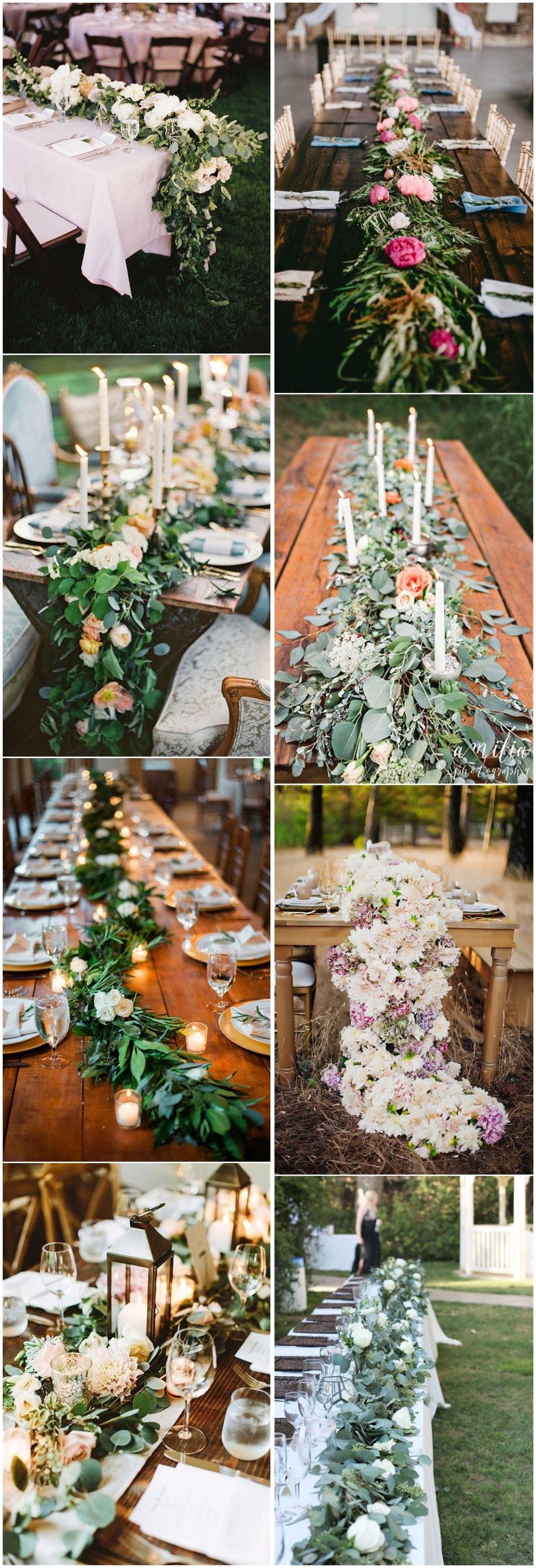 Wedding Decorations » Wedding Trend—23 Unique Floral Wedding Garland Table Runner Ideas