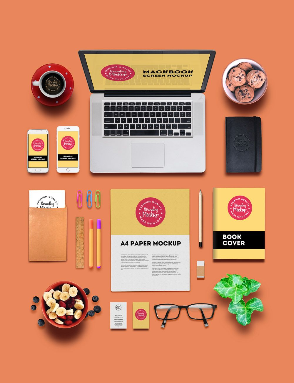 Branding and Identity Mockup Graphic design brochure, Mockup