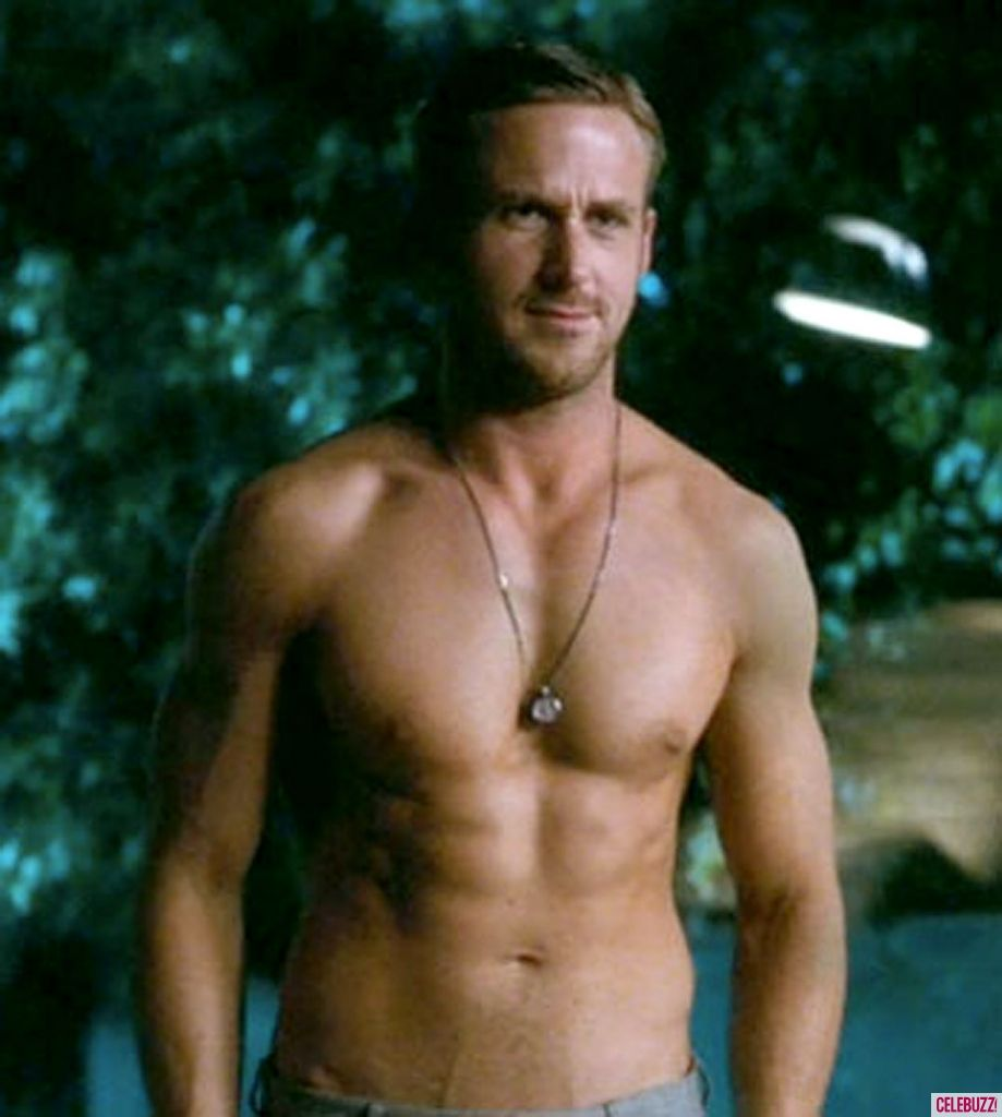 Ryan gosling shirtless notebook