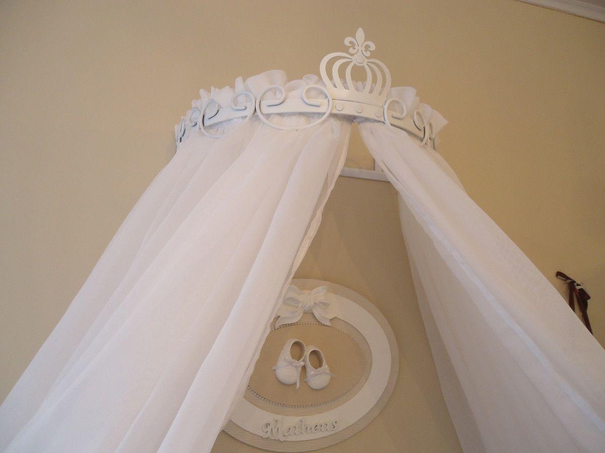 Dossel Coroa Imperial Com Mosquiteiro Mosquiteiro Dossel E Coroas ~ Tapete Croche Quarto Infantil E Quarto De Bebe Com Dossel