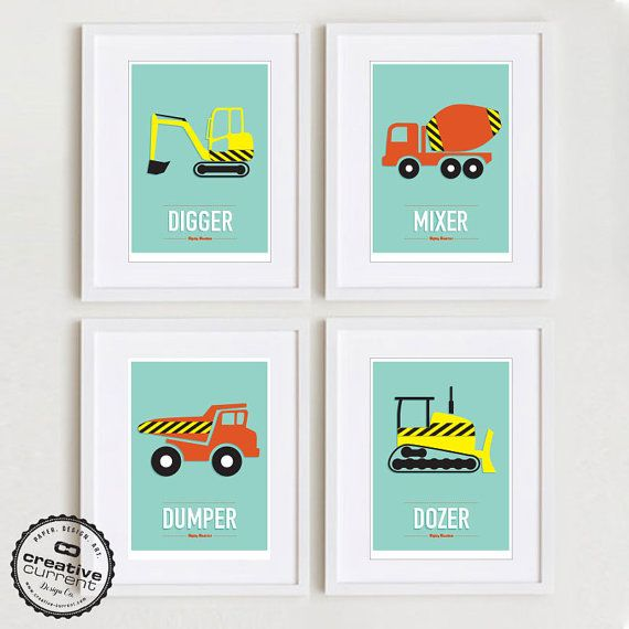 Mighty Machines Set Of 4