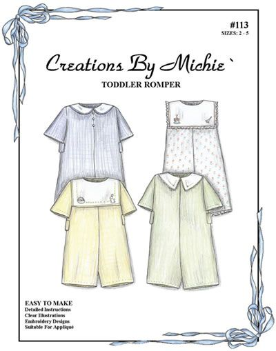 toddler romper sewing pattern for boys or girls - creations by ...