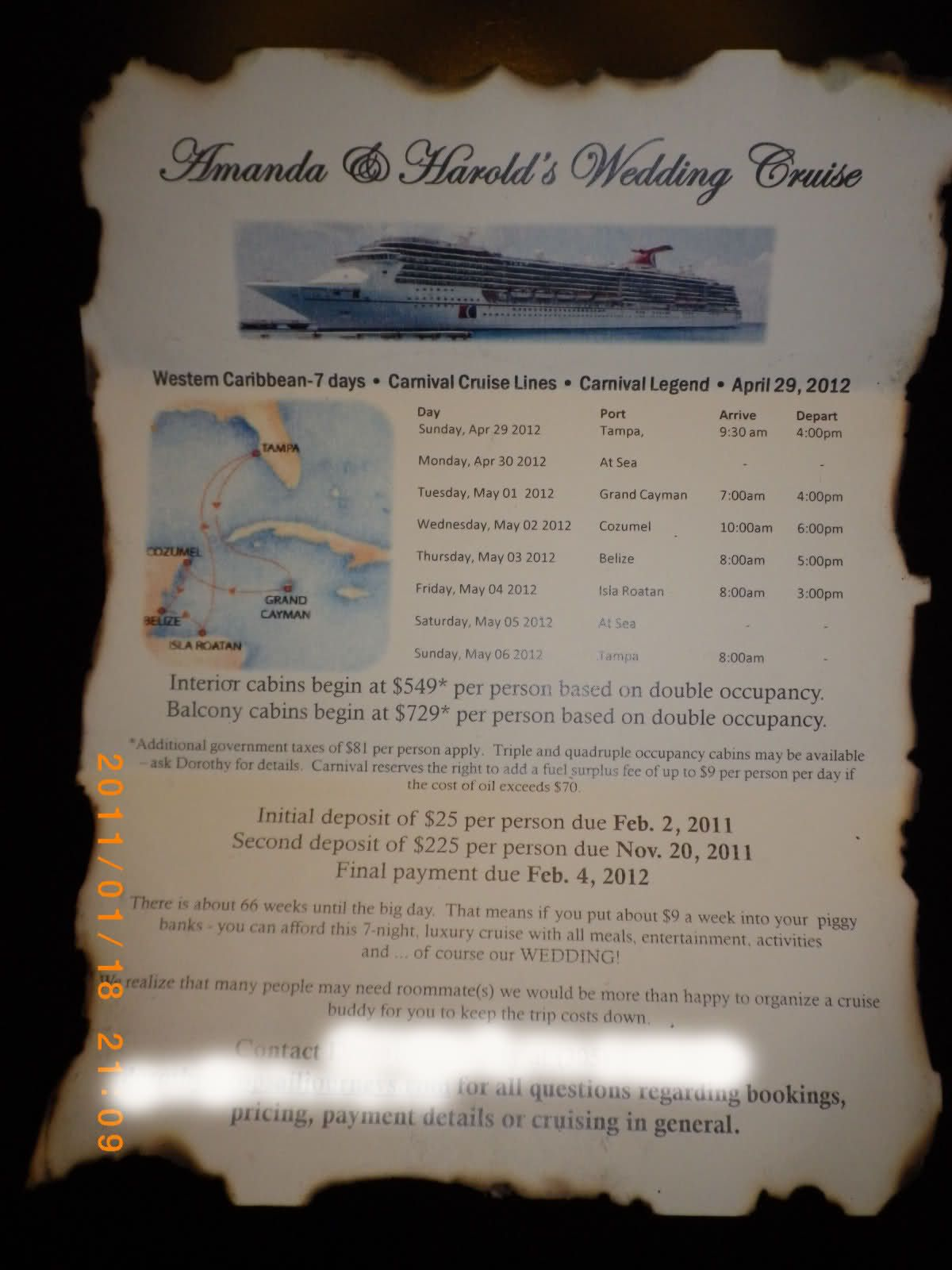 Dyi Save The Dates And Cruise Flyer Are Complete