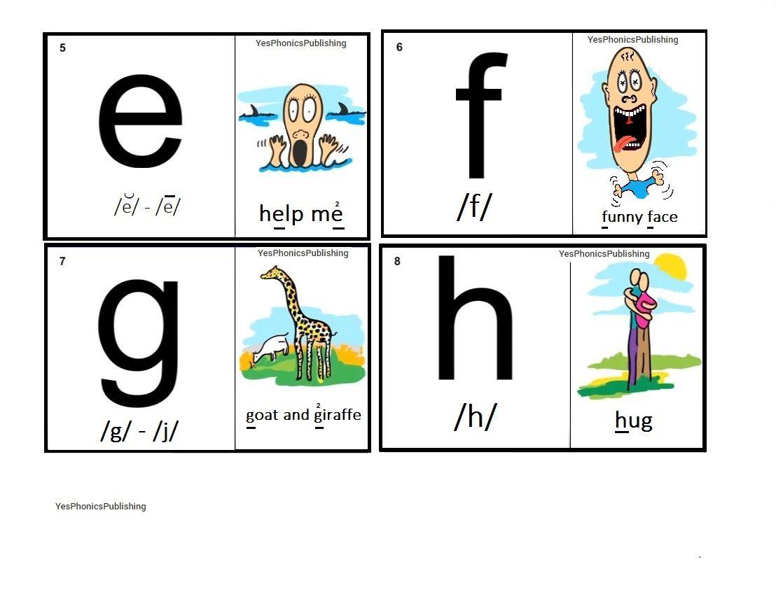 Orton-Spalding Phonograms - Illustrated Flash Cards - 'e', 'f', 'g ...