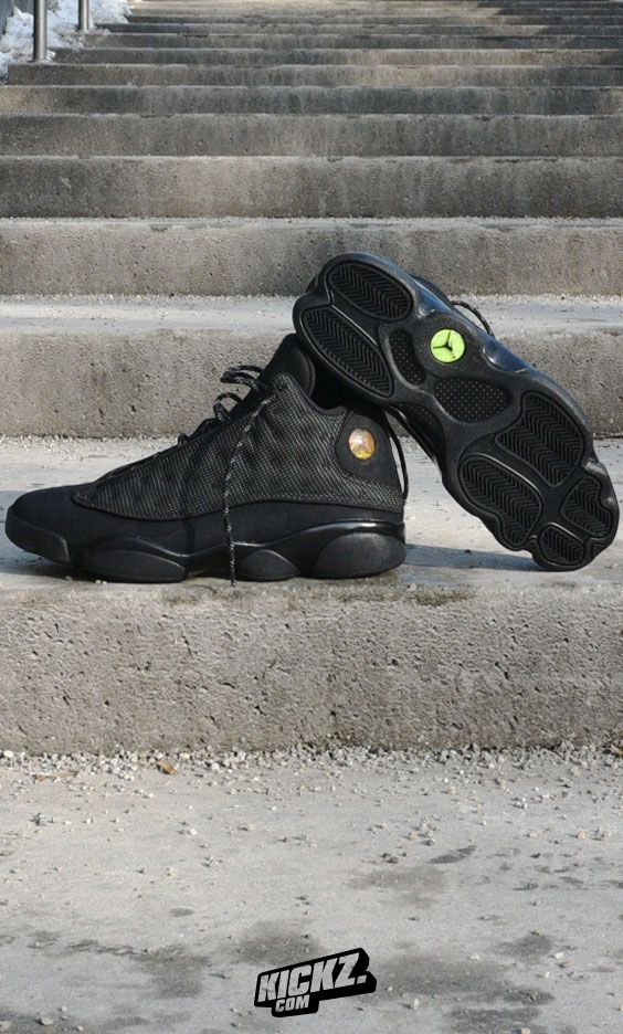 best sneakers a3c62 423e6 Inspired by the Black Panther, the Air Jordan 13 Retro  Black Cat  features  a black suede upper with reflective-backed mesh paneling and matching  reflective ...