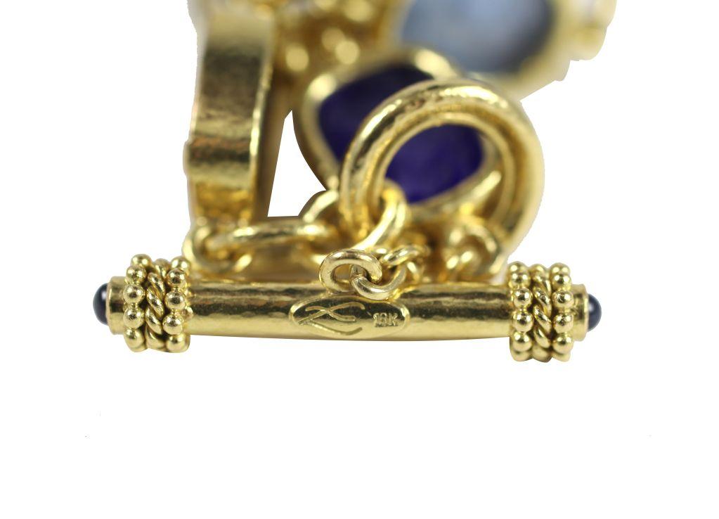 Elizabeth Locke Intaglio Toggle Bracelet Antique