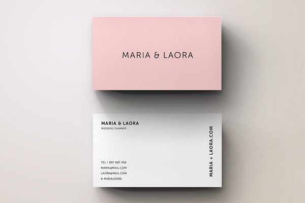 Pink modern business card template pinterest card templates pink modern business card template business cards colourmoves