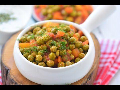 Zeytinyağlı  Taze  Bezelye  Tarifi ( Rengarenk nefis bir yemek) Videolu Tarif