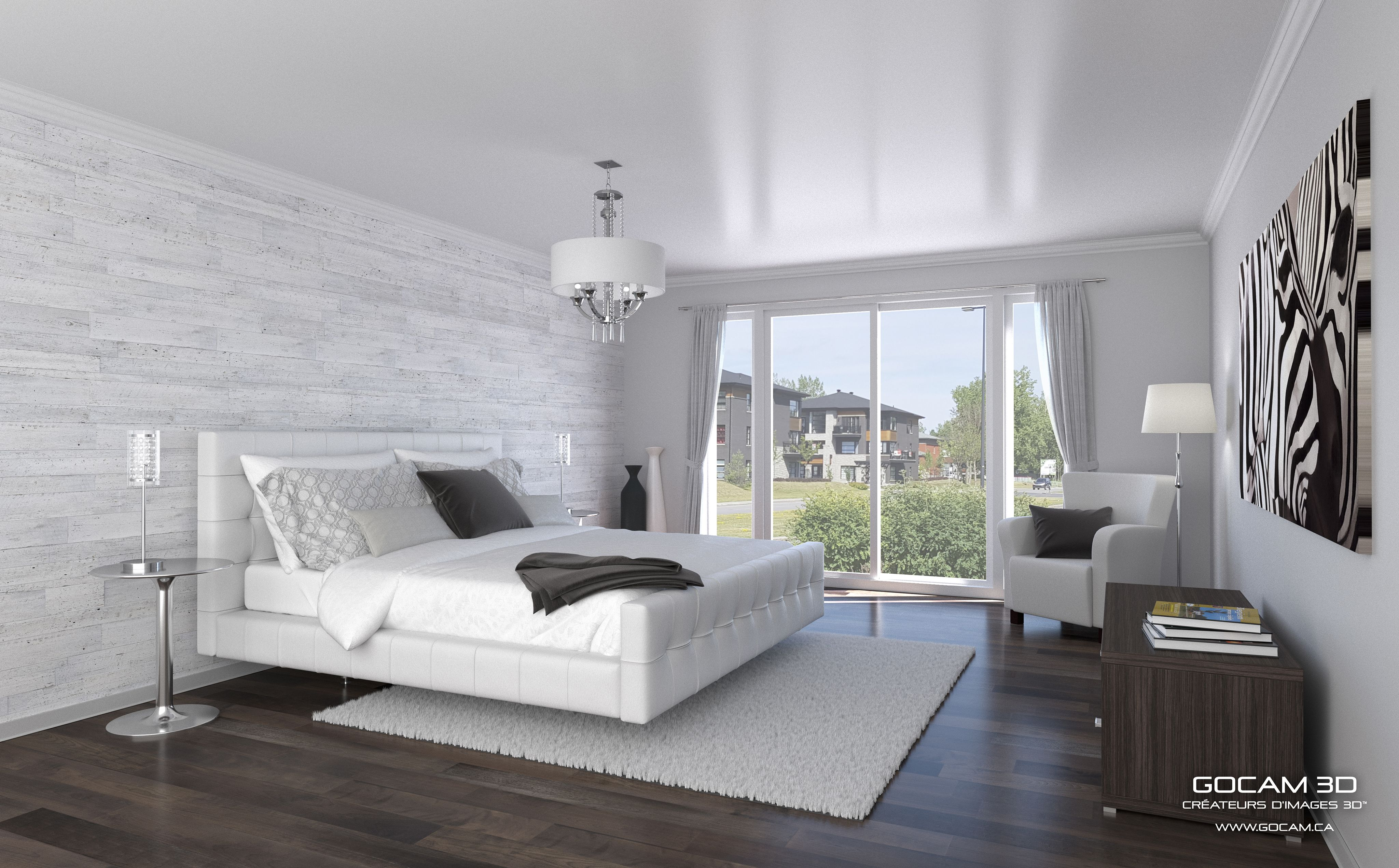 Here is one of our latest photorealistic 3D bedroom visual