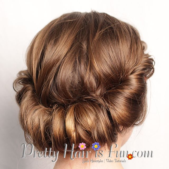 Wedding Hairstyle Roll: Pretty Hair Is Fun: Rolled Updo Hair Tutorial