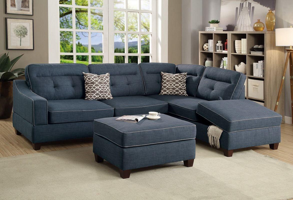 Phenomenal 3Pcs Sectional Sofa Set Dark Blue Interior In 2019 Creativecarmelina Interior Chair Design Creativecarmelinacom