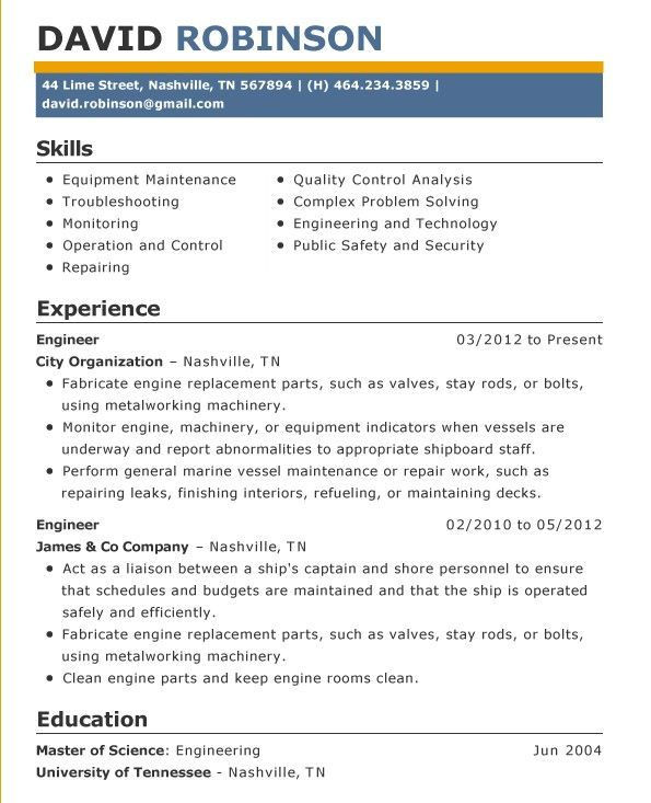 Simple Resume Examples For Jobs  Resume    Simple