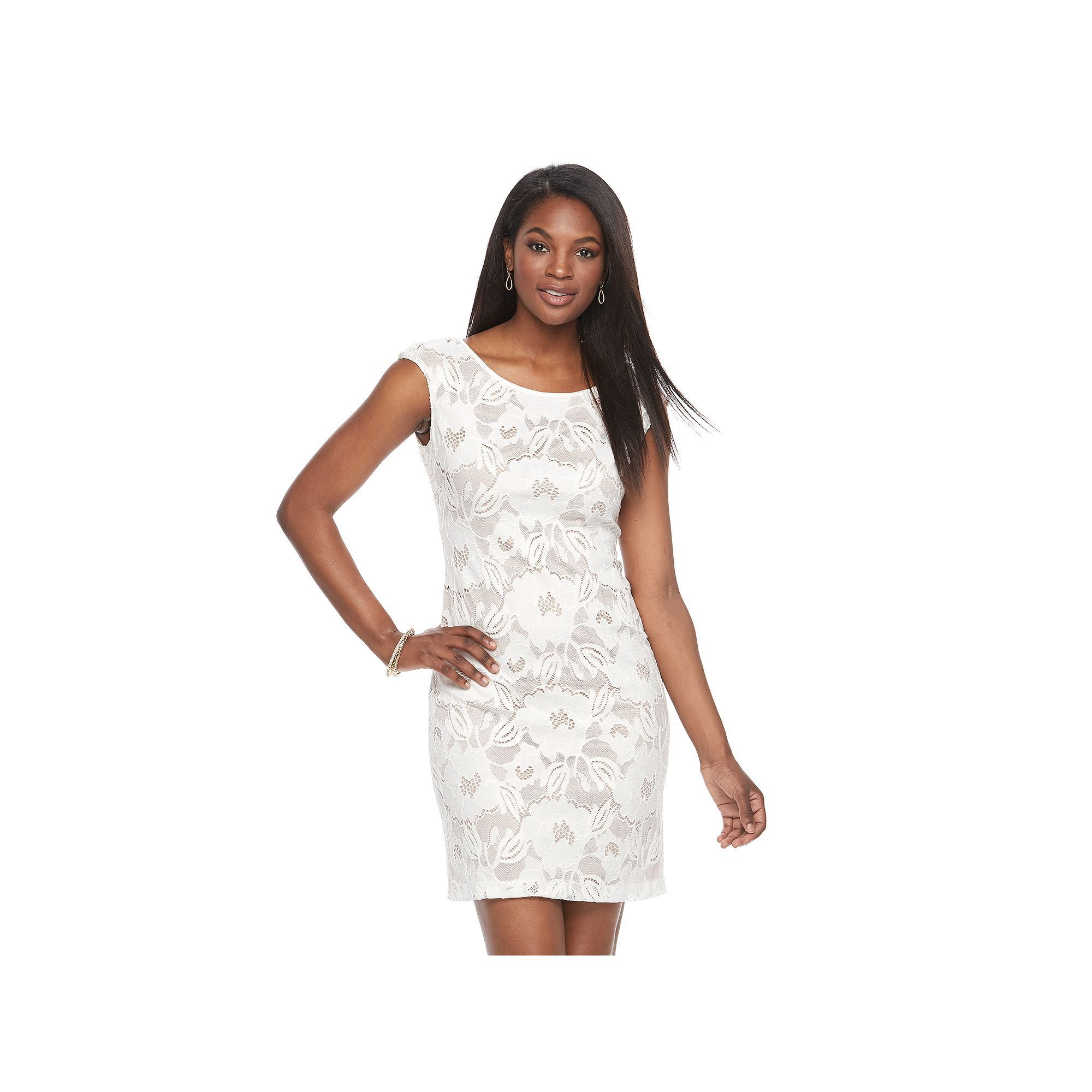 Womenus connected apparel lace shift dress size dark brown