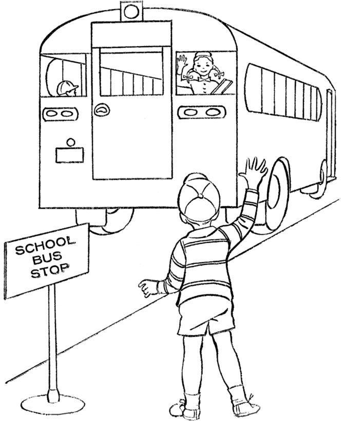 Parada de autobus   Education   Pinterest   Dibujos para colorear ...