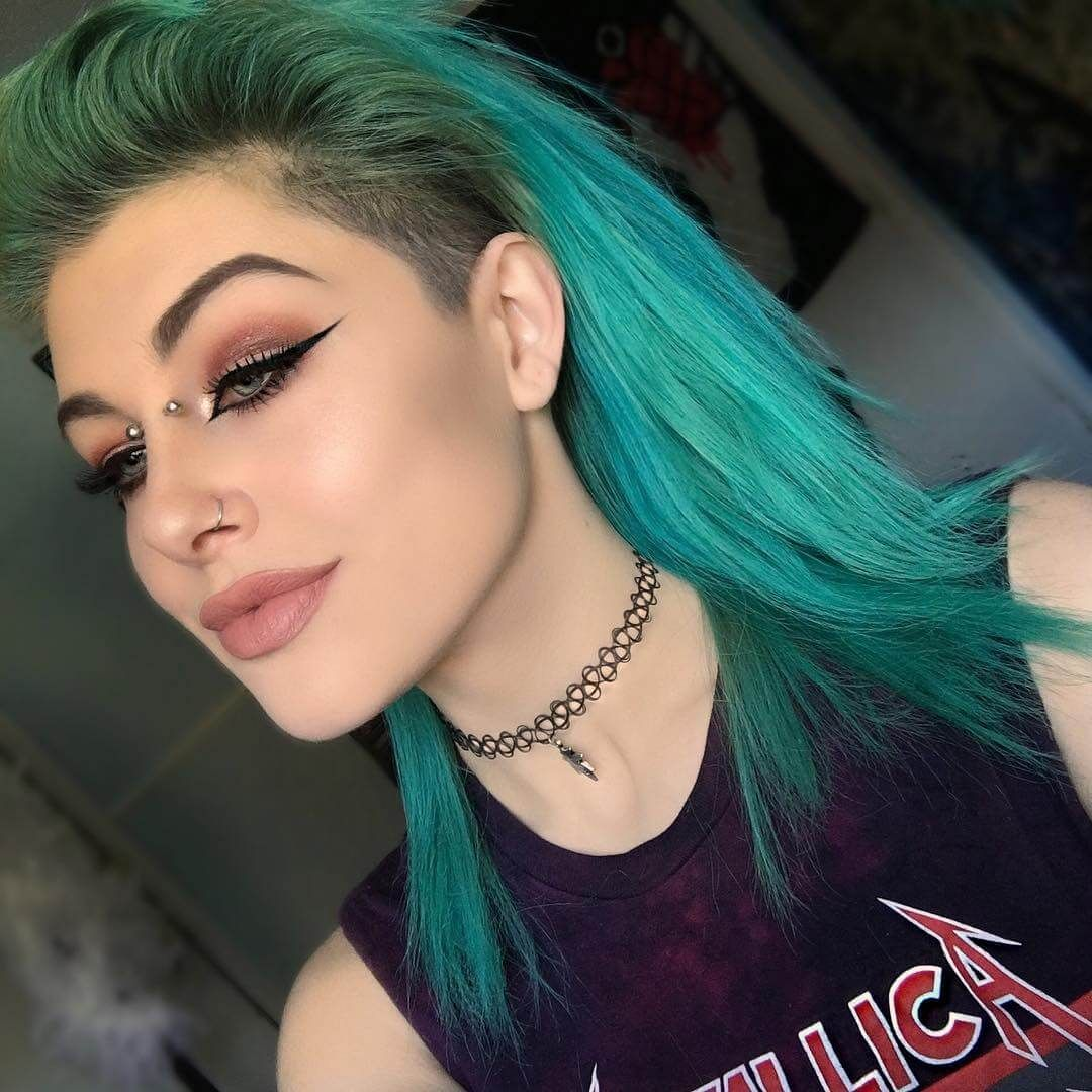 25 Green Hair Color Ideas You Have To See Green Hair Colors Green
