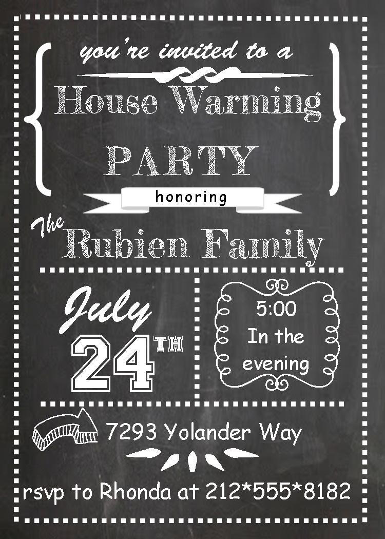 Housewarming and Open House Invitations – House Party Invitation Templates