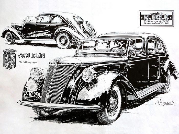 Vintage Cars and Racing Scene, Automotive Art of Vaclav Zapadlik ...