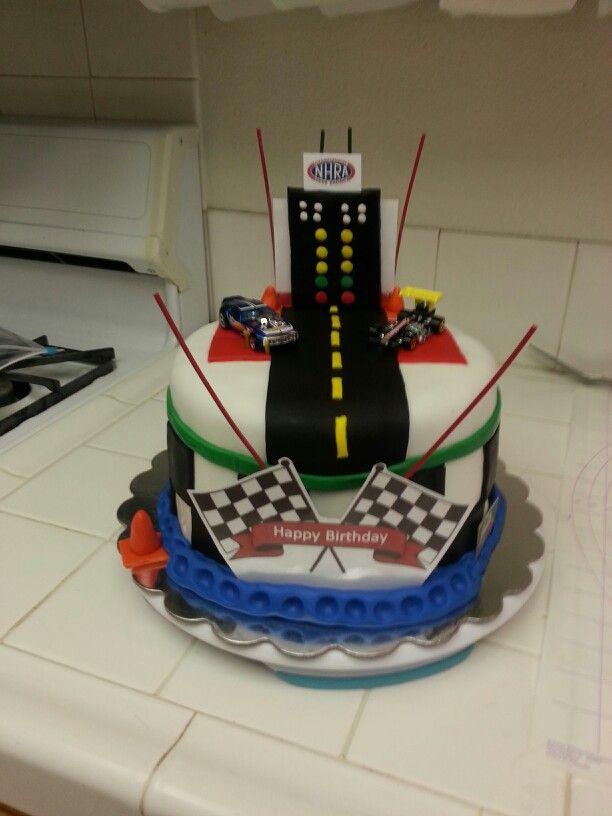 Drag Racing Cake