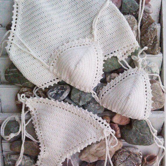 crochet bikini set Tathiana 3pcs - Crochet Vintage bikini Crochet ...