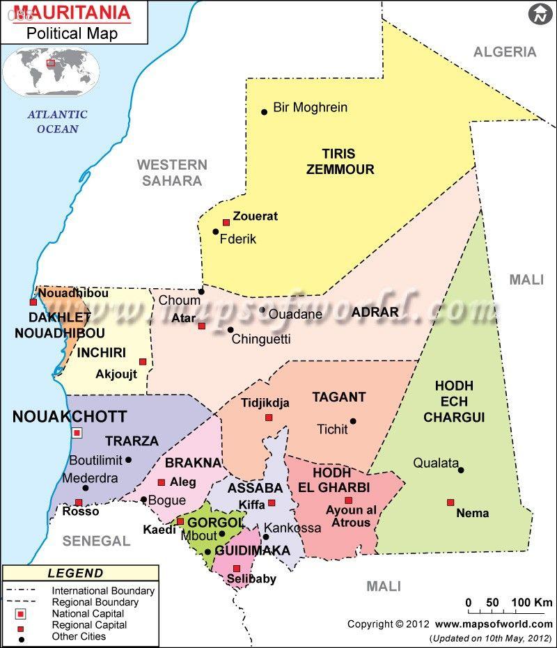 Mauritania Map httptravel088commauritaniamap Mauritania