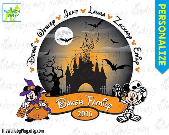disney halloween family printable iron on transfer or use as clip art mickeys not so scary halloween party diy disney matching shirts