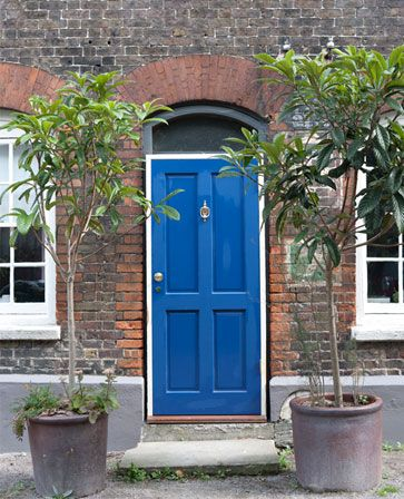 Door In Pitch Blue Full Gloss Farrow And Ball Drawing Room Blue Front Door Colors Drawing Room Blue