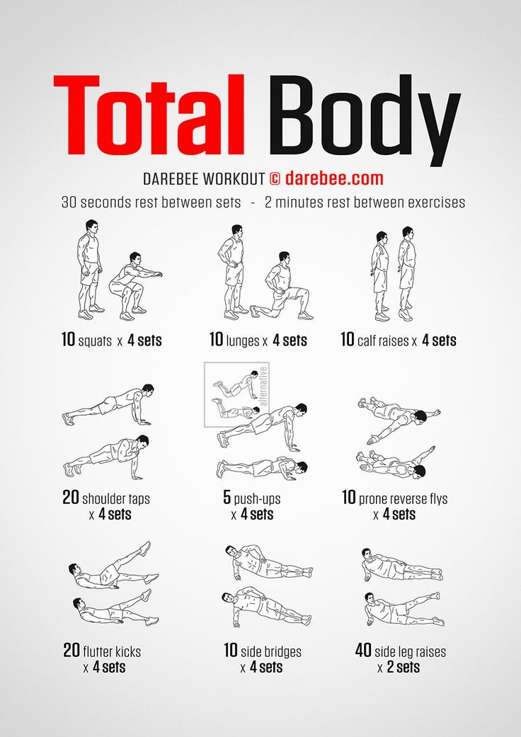 No-Equipment Total Body Workout -   fitness Routine for teens