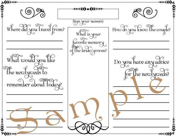 Fun Alternatives for a GUESTBOOK!  wedding black guest book - guest book template