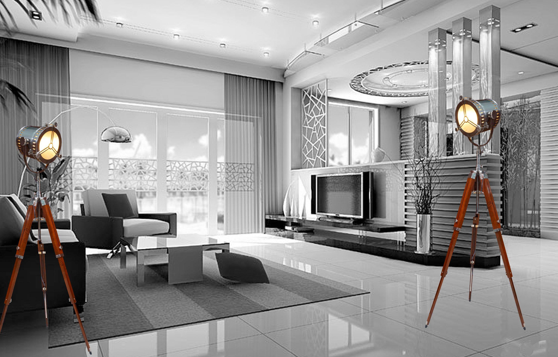 Astonishing Avion Innovative Art Deco Tripod Lamp In Polished Chrome Download Free Architecture Designs Grimeyleaguecom