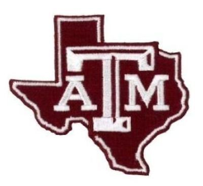 Texas at/&M Aggies Primary Team Logo Iron On Embroidered Patch