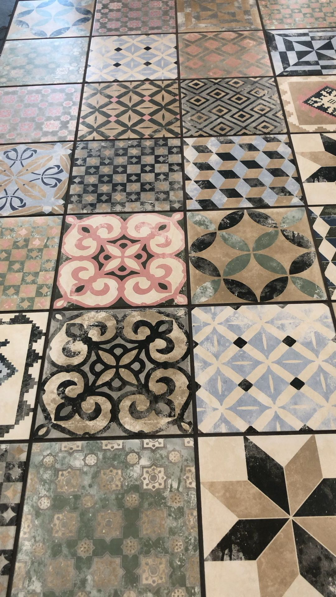 Nonna Sofia Mix Multicoloured And Various Patterned Decorative Tiles Floor Morrocan Floor Tiles In 2020 Wall And Floor Tiles Decorative Tile Patterned Floor Tiles