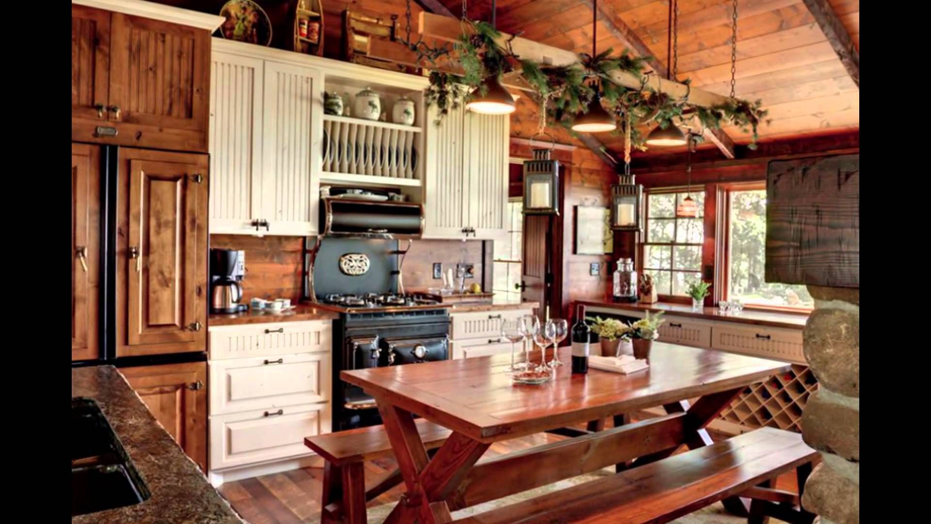 Photos Gallery of Lake House Kitchen Design Ideas with ... on Rustic:mophcifcrpe= Cottage Kitchen Ideas  id=84523