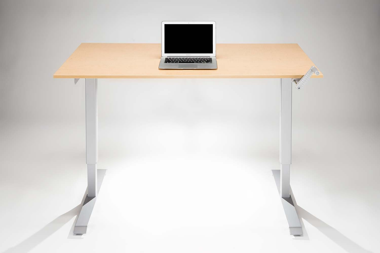 Executive office table with glass top modtable hand crank standing desk  office desks  pinterest